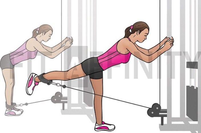 Hátrarúgás, farizom edzés