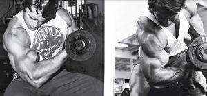Koncentrált bicepsz, Arnold Schwarzenegger